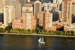 Aerial over Hudson River