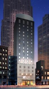 Ann Street Aloft Hotel Night time