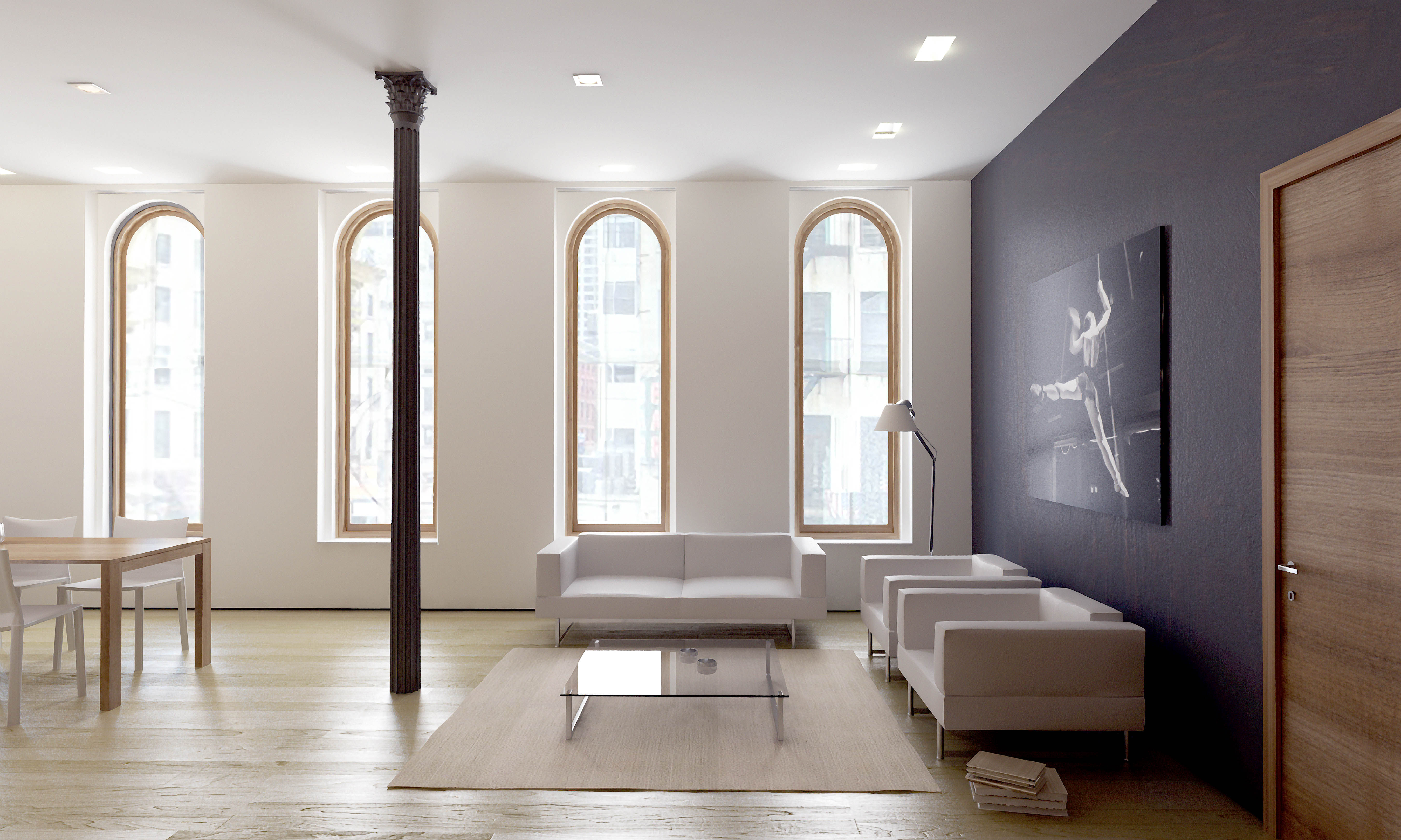 Apartment Foyer Xl : Chambers apartment rendering entrance wlh consulting and